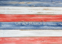 Red White & Blue Wood 1