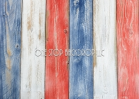 Red White & Blue Wood 3