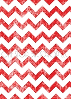 Red Grunge Chevron