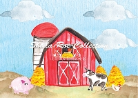 Watercolor Barn