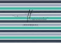 STRIPES Teal Gray