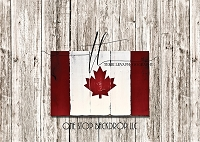 Canada Flag Wooden Boards 2