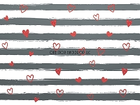 Gray & Red Heart Stripes
