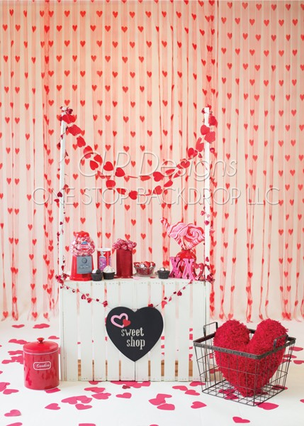valentines day backdrop - Valentines Backdrops