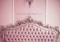 Elegant Headboard Backdrop Pink