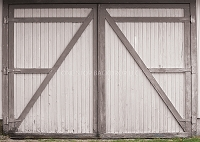Barn Door White & Gray