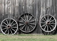 Wagon Wheel Wall 2