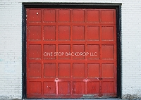 Old Garage Door Red