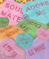 Conversation Hearts Bokeh