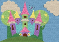 Princess Castle Backdrop