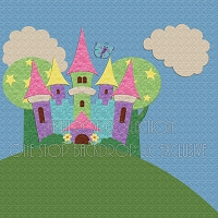 Princess Castle Backdrop 2