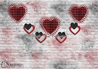 Plaid Hearts Brick