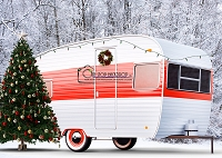 Christmas Camper Red