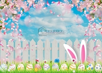 Easter Bunny Ears Fence
