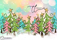 Whimsey Christmas trees 4