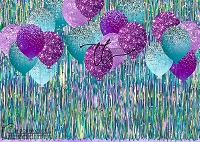 Tinsel Party turquoise purple