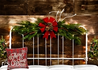 Merry Christmas Vintage Iron Headboard