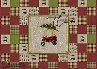 Christmas coupe woven sampler