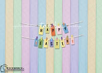 Happy Easter pastel balsa boards