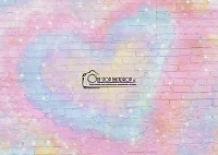Pastel Heart Graffiti Brick