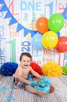 First Birthday Primary Colors