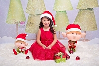 Green Paper Trees Christmas Backdrop