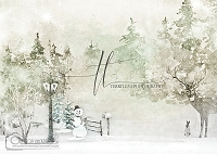 Creamy Winter Forest Scene
