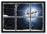 Flying Santa Window