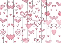 Pink Hearts on White Planks 2