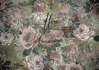 Vintage roses - dark dusty rose