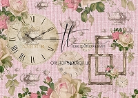 Tea Time - Pink Burlap