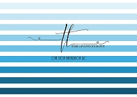 Ombre border stripes blue