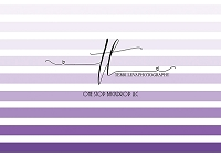 Ombre border stripes purple