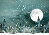 Bright Winter Forest Moon 1