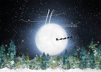 Silvery Moon 2 (Flying Santa)