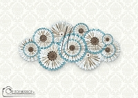 Pretty pinwheels 2_on vintage ivory damask