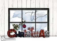 A PLAID CHRISTMAS WINDOW 2