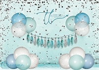 Big balloon glitter birthday_blue2