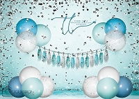 Big balloon glitter birthday_blue 3