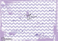 Painted Chevron Purple