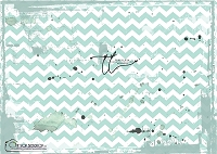 Painted Chevron Teal