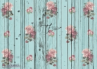 Shabby Rose Turquoise wood boards