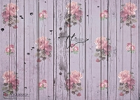 Shabby Rose Purple wood boards