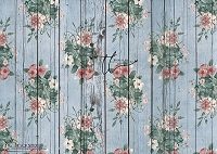 Shabby Rose Blue wood boards
