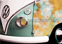 Vintage Floral Bus Backdrop