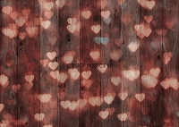 Bokeh Hearts Red