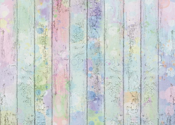 Pastel Splattered Wood