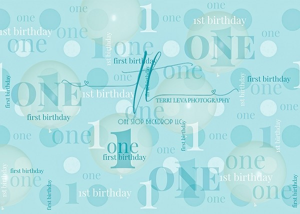 First Birthday Light Teal