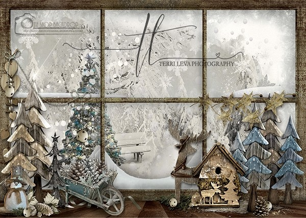 Whimsical Holiday Window 1