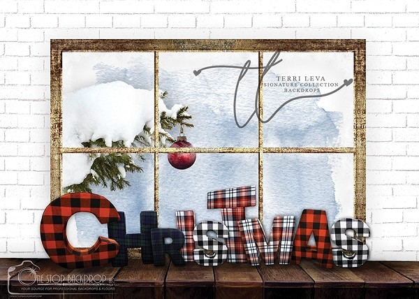 A PLAID CHRISTMAS WINDOW